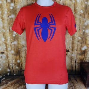 Spiderman Underarmour heatgear compression shirt